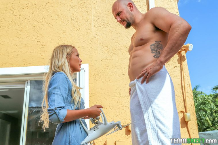 Exxxtra Small Brice Bardot in Alone with a Drone 2