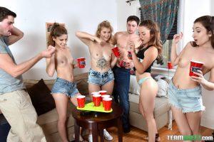 Bffs Kristen Scott & Arya Fate in Dorm Party 8