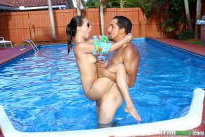Exxxtra Small Carolina Sweets in Swimming In Semen 11