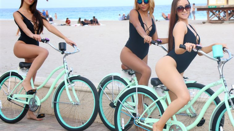 BFFS Ally, Nicole and Kendra in Beach Bikers 1