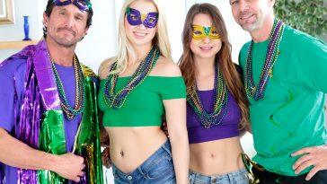 Daughter Swap Sierra Nicole & Taylor Sands in Mardi Gras Madness Pt 1 6