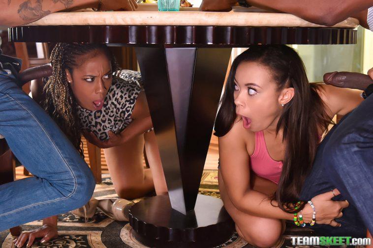 Family Strokes Adriana Maya and Misty Stone in Family Betrayals 4