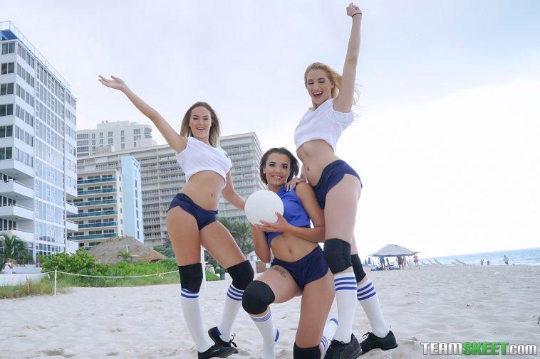 Bffs Sierra Nicole, Nicolette Love & Eve Ellewood in Volleyballin 1