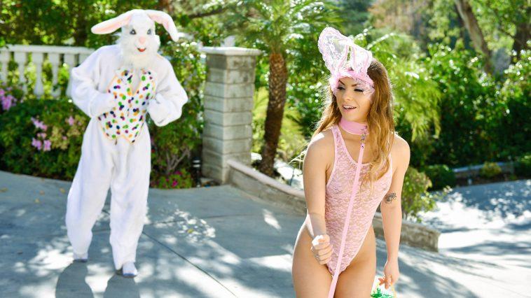 Exxxtra Small Summer Brooks in Mini Easter Bunny Babe Gets Slammed 2