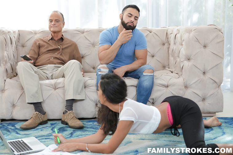 Family Strokes Black Teen